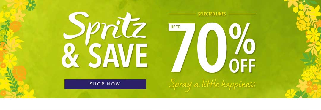 Spritz and Save Banner